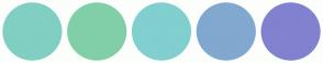 Color Scheme with #80CFC3 #81CFA8 #81CFCF #81A8CF #8181CF