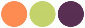Color Scheme with #FD8C52 #C4D36A #592F53