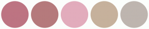 Color Scheme with #BD7482 #B57A7C #E2ACBC #C6B19C #BEB5AF
