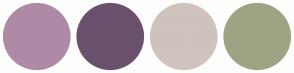 Color Scheme with #AE8AA6 #6B516E #CFC3BD #9FA383