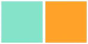 Color Scheme with #83E3C9 #FFA328
