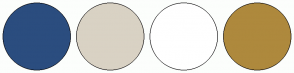 Color Scheme with #2B4D7F #D9D2C4 #FFFFFF #AE893D