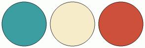 Color Scheme with #3C9EA0 #F7ECCA #CD503B