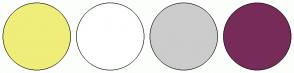 Color Scheme with #EFEE7A #FFFFFF #CCCCCC #772B59