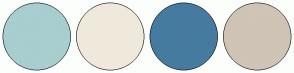 Color Scheme with #A8CECF #EFE9DC #467BA0 #CFC4B6