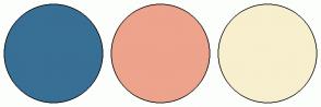 Color Scheme with #386F95 #EDA38C #F7EFCE