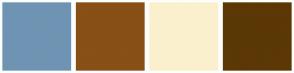Color Scheme with #6F94B3 #884F16 #FBF0CD #5B3806