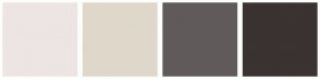 Color Scheme with #EDE5E3 #DED7CA #615A5A #3B3232