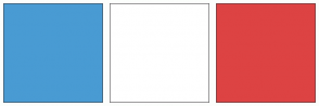 Color Scheme with #499BD3 #FFFFFF #DD4343