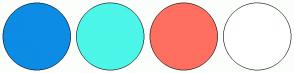 Color Scheme with #0C8CE5 #4CF6E8 #FF6F60 #FFFFFF
