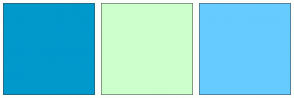 Color Scheme with #0099CC #CCFFCC #66CCFF