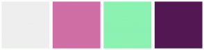 Color Scheme with #EEEEEE #D06EA6 #8BF2B2 #531854