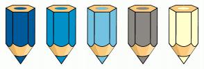 Color Scheme with #005B9A #0191C8 #74C2E1 #8C8984 #FFFFCC