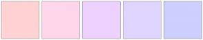 Color Scheme with #FFD3D3 #FFD5E9 #ECD1FF #DFD5FF #CDCFFF
