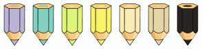 Color Scheme with #BBB4D6 #82D1C1 #DCF57A #FAF369 #FAECB4 #E6D5A5 #292524