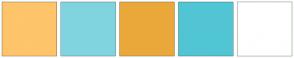 Color Scheme with #FEC56B #80D4DF #EAA83A #51C5D4 #FFFFFF