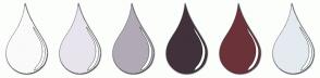 Color Scheme with #FAFAFA #E8E4ED #B1AAB5 #40313B #6B323A #E4EBF0