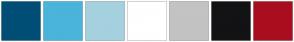 Color Scheme with #004E76 #4BB4DB #A5D1DF #FFFFFF #C3C3C3 #131315 #A90E1F