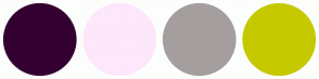 Color Scheme with #340031 #FDE7FB #A59E9E #C6C900