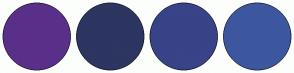 Color Scheme with #593089 #2D3561 #384388 #3D579F