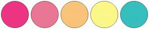 Color Scheme with #EC3583 #E97794 #F9C379 #FBF788 #36BFBD