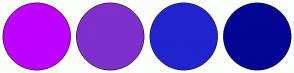 Color Scheme with #BF00FF #7F2FCB #2123CF #030693