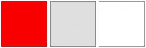 Color Scheme with #F90000 #DFDFDF #FFFFFF