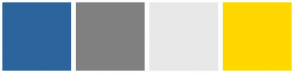 Color Scheme with #2C649C #808080 #E8E8E8 #FFD800