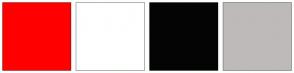 Color Scheme with #FF0000 #FFFFFF #040404 #BEBABA
