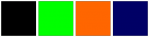 Color Scheme with #000000 #00FF00 #FF6600 #000066