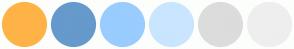 Color Scheme with #FFB347 #6699CC #99CCFF #CAE5FF #DCDCDC #EEEEEE