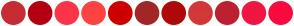 Color Scheme with #C72C34 #B30012 #FC3549 #FF4242 #CE0000 #A32626 #AF0909 #D33838 #BD2031 #F01641 #FA0A3E