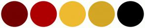 Color Scheme with #740001 #AE0001 #EEBA30 #D3A625 #000000