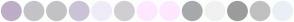 Color Scheme with #BEADC6 #C5C3C7 #C3C2C4 #CBC3D6 #F0EBF8 #D1CED2 #FEE8FF #FDE8FF #A7A9AB #F1F1F2 #9C9C9C #C0C0C0 #E9EFF5
