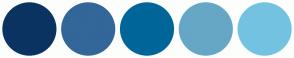 Color Scheme with #0A3362 #336699 #006699 #66A7C5 #74C2E1