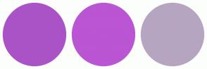 Color Scheme with #AA53C6 #BA55D3 #B6A5C1