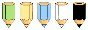 Color Scheme with #B0E57C #FFEC94 #9BD1FA #FFFFFF #000000