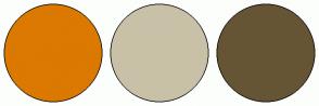 Color Scheme with #DB7900 #C9C1A7 #665535
