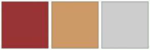 Color Scheme with #993333 #CC9966 #CCCCCC