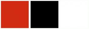 Color Scheme with #D12C12 #000000 #FFFFFF