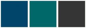 Color Scheme with #01456A #016869 #353535