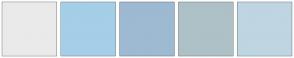 Color Scheme with #EAEAEA #A5CEE8 #9EB9D2 #ADC1C7 #BFD5E1