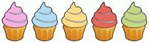 Color Scheme with #F1B2E1 #B1DDF3 #FFDE89 #E3675C #C2D985
