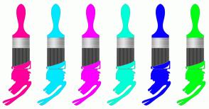 Color Scheme with #FF0098 #00E8FF #FC00FF #00FFD9 #0A00FF #00FF14