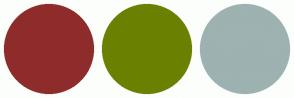 Color Scheme with #8E2C2C #6A8000 #9DB2B1