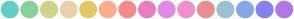 Color Scheme with #63CEC4 #87D29A #CDD48A #EAD0AB #E5C66B #FBAE8B #F68A8A #E87EC0 #E28AE7 #F090CB #E78E95 #9BC1D2 #86A7E8 #8881EC #AF78E7
