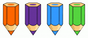 Color Scheme with #FF6600 #663399 #3399FF #55D43F