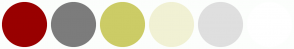 Color Scheme with #990000 #7C7C7C #CCCC66 #F1F1D4 #DFDFDF #FFFFFF