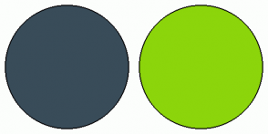 Color Scheme with #394C59 #8CD50B