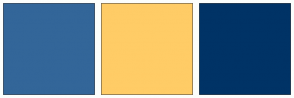 Color Scheme with #336699 #FFCC66 #003366